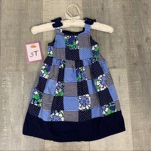 Gymboree Blue Pattern Sleeveless Dress